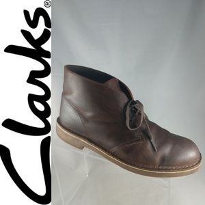 Clarks Brown Leather Chukka ankle boots 10 M